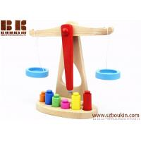 Buy cheap 10*23.5*24.5cm Preschool Education Toys Making Kids Educational And Happy Wooden Balance scales from wholesalers
