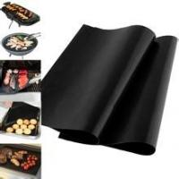 Quality Non-stick and Reusable PTFE BBQ Grilling Mat/ PTFE Oven Liner for sale