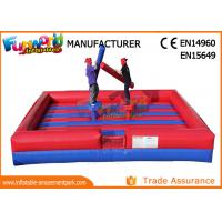 Buy cheap PVC Tarpaulin Inflatable Sports Games / Gladiator Duels Blow Up Jousting Arena from wholesalers