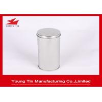 Buy cheap FDA Blank Round Cylinder Metal Tinplate Canister Plain Color For Tea Storage from wholesalers