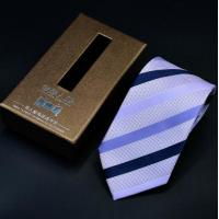 Buy cheap custom printed luxury paper packaging necktie gift box with window and color customized from wholesalers