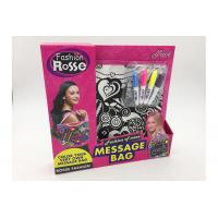Pink Color 11 Inch DIY Drawing Message Bag With 4Pcs Bright Color Markers