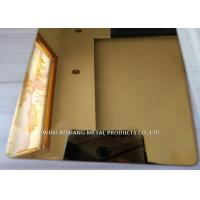 Buy cheap Gold Mirror  Finish Stainless Steel Sheet 4x8 / SS 304 Sheet  For  Elevator Decoration from wholesalers