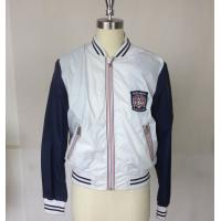 Buy cheap OEM Ladies Casual Skirts , Mens football Jacket with Blue Rib from wholesalers