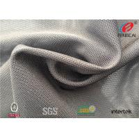Buy cheap Elastic Lycra Mesh Fabric , Coolpass Bird Eye Poly Mesh Fabric 90GSM Density from wholesalers