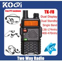 Buy cheap Walkie Talkies TK-F8 VHF 136-174MHz 144Mhz with Headset from wholesalers