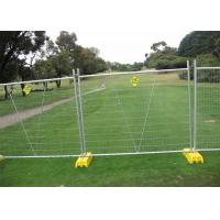 Buy cheap Galvanised metal frame material portable temporary fence with brace from wholesalers