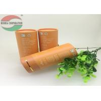 Buy cheap Large Kraft Cardboard PET Paper Tube Packaging With Hot Stamping Orange from wholesalers