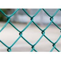 Buy cheap Green 6'X10' Vinyl Coated Chain Link Fabric Fencing Mesh For Residential from wholesalers