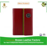 Buy cheap Promotion custom leather notebook, school note book, leather diary with elastic band from wholesalers