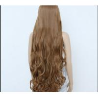Buy cheap Deep Curly Human Hair Wigs Medium Brown Color / unprocessed virgin human hair from wholesalers