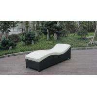 Buy cheap Army Green Rattan Sun Lounger With White Cushion And Aluminum Frame from wholesalers