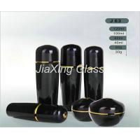 Buy cheap Black Classic Cosmetic Glass Bottles And Jars Color Painting Cosmetic Packaging from wholesalers