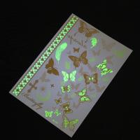 Buy cheap Butterfly Luminous Glow In The Dark Temporary Tattoos Different Patterns from wholesalers