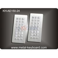 Top panel mounting 24 Keys Stainless Steel Keyboard Industrial Waterproof