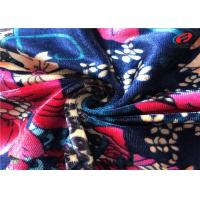 Buy cheap Flower Polyester Stretch Knitted Spandex Velvet Fabric For Dress / Upholstery from wholesalers