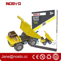 Buy cheap Dump truck 3D puzzle car model kits DIY toys for boy , 3d puzzle truck from wholesalers