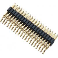 Buy cheap WCON Connector 1.27 Mm Pitch Pin Header 90° SMT PA9T BK H=2.5 Horizontal posts from wholesalers