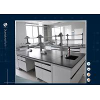 Buy cheap Black Epoxy Resin Tops Physics Laboratory Furniture , Alkali Resistant Physics Lab Furniture from wholesalers