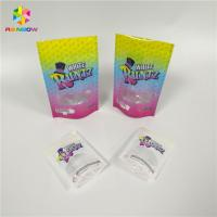Buy cheap Recyclable Snack Bag Packaging Laser Holographic Runtz Clear Window Childproof zip lock bag from wholesalers