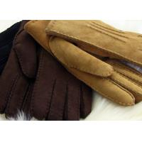 Buy cheap Handsewn Warmest Sheepskin Gloves , Ladies Genuine sueded lambskin Shearling Gloves from wholesalers