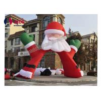 Buy cheap Red Santa Claus Inflatable Holiday Decor , Advertising Inflatable Arch Way 6m Size from wholesalers