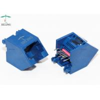 Buy cheap 45 Degree Unshielded Lan Connector 8P8C Thru - Hole Type For RJ45 Junction product