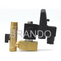 Air Compressor Electric Pneumatic Solenoid Valve , Auto Drain Valve With Timer