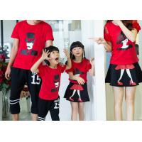 Buy cheap Casual Cotton Kids T Shirts Pants , Summer Matching Family Shirts With Skirt Set from wholesalers