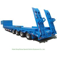 Buy cheap Heavy Duty Gooseneck 4 Axle  Lowboy Trailers 80 - 90 ton from wholesalers