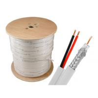 Buy cheap SINOWELL Copper CCA CCS Power + rg6 siamese cable 1000 ft Spool Indoor product