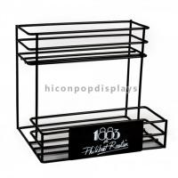 Buy cheap Countertop 2 - Layer 6 Bottle Beer Retail Metal 6mm Wire Display Rack For Wine Shop from wholesalers