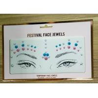 Buy cheap Customized Size Face Gem Rhinestone Tattoo Stickers Skin Safe Non Toxic from wholesalers