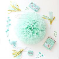 Buy cheap Paper Flower Balls Tissue Paper Pom Poms For  Birthday/Wedding/Party Decorations from wholesalers