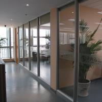 Buy cheap Aluminum Frame Soundproof Fireproof Sliding Office Partition Glass Walls from wholesalers