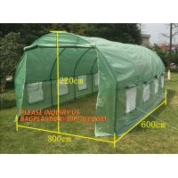 Buy cheap WATER PROOF UV COATING REINFORCED PE HYDROPONIC GREENHOUSE, PE WOVEN OUTER DOOR, Polytunnel Mini Tunnels Walk in Greenho from wholesalers