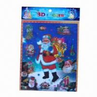 Buy cheap Christmas decoration 3D stickers/lenticular stickers, available in various sizes/colors, non-toxic from wholesalers