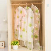 Buy cheap Transparent closet Hanging Garment Bags flower Printed with Silver Trim Zip from wholesalers