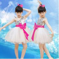 Buy cheap children's costume princess dress show children clothing sequined veil dance suits from wholesalers