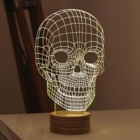 Buy cheap Amazing 3D Illusion Light Skull LED Table Lamp Night Light from wholesalers