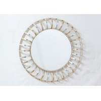 Buy cheap Decorative Round Hanging Sunburst Metal Wall Art Mirror from wholesalers
