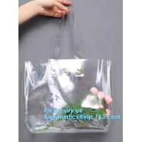Buy cheap Eco-friendly washable kraft paper with PVC handle bag for women, Die cut handle soft PVC packaging bags for tool, handy from wholesalers