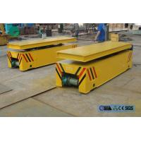 Buy cheap steel box beam structure hydraulic lifting table rail transport trolley from wholesalers