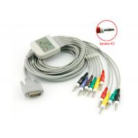 Buy cheap 10 Leadwires Banana 4.0 End Nihon Kohden Ekg Cable 4.7 K Ohm Resistance Standard from wholesalers