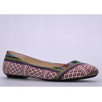 Buy cheap TPR Bow Ballerina Flat Shoes , Size 36-41 Red Soft Footwear from wholesalers