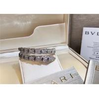 Buy cheap Glamorous 18K Gold Diamond Jewelry , Full Pave Diamond Bvlgari Snake Bracelet product