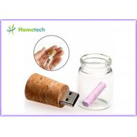 Buy cheap Transparent Wood Glass Message In A Bottle Usb Flash Drive 4GB 8GB product
