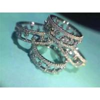Buy cheap De Beers Eternity Ring 18K White Gold Wedding Ring with VVS Diamonds Fine Jewelry from wholesalers