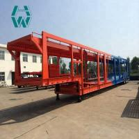 Buy cheap Long Distance Auto Hauling Trailers / Hydraulic Vehicle Transport Trailer product