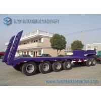 Buy cheap 60 T Heavy Lowbed Flatbed Semi Trailer , 4 Axles Flatbed Car Trailer from wholesalers